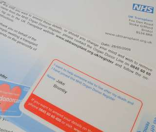 NHS donor letter